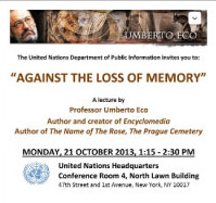 Against the loss of memory